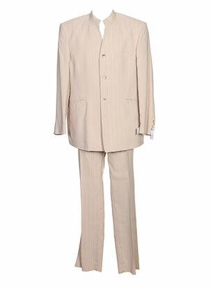 Costume de ville beige ENZO CRÉATION pour homme