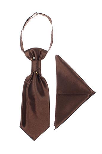 Cravate marron VIRTUOSE pour homme