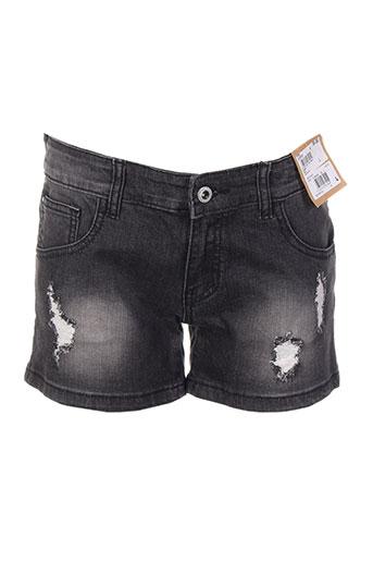 beckaro shorts / bermudas fille de couleur noir