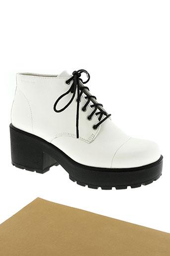 vagabond chaussures femme de couleur blanc
