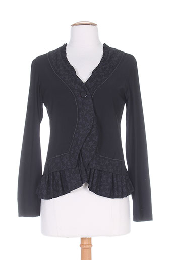 double jeu vestes femme de couleur noir