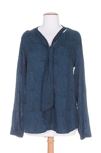 elora chemises femme de couleur bleu