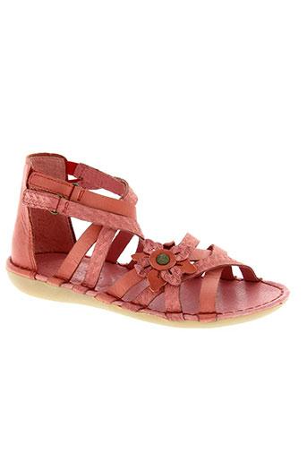 kickers chaussures fille de couleur rose