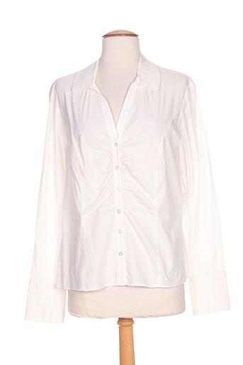 hucke woman chemises femme de couleur blanc