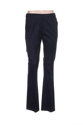 victoire pantalons femme de couleur bleu