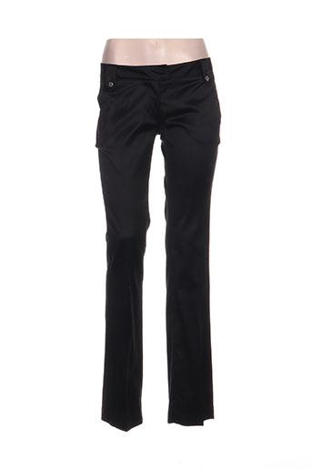 byblos pantalons femme de couleur noir