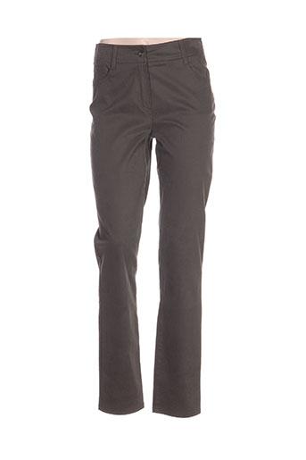 irene van ryb pantalons femme de couleur gris