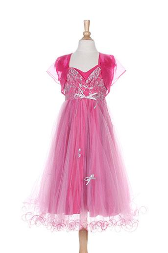 christella robes fille de couleur rose