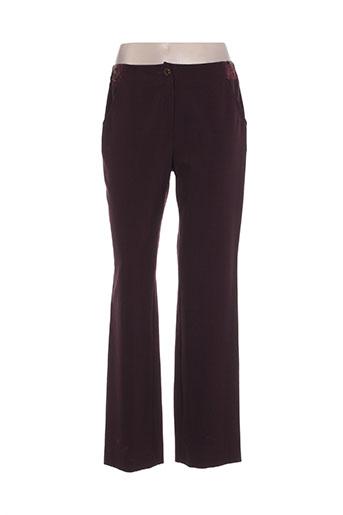 lewinger pantalons femme de couleur violet
