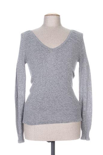 trussardi jeans pulls femme de couleur gris