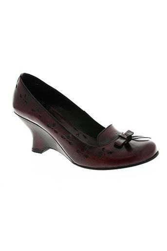 san marina chaussures femme de couleur rouge