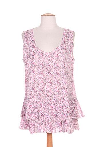 rhum raisin chemises femme de couleur violet