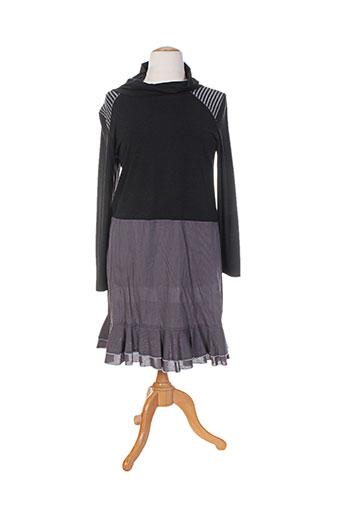 Robe mi-longue gris FILLE DES SABLES pour femme