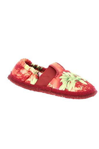 giesswein chaussures fille de couleur rouge
