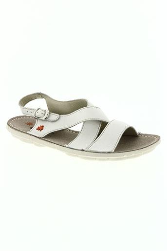 art chaussures femme de couleur blanc
