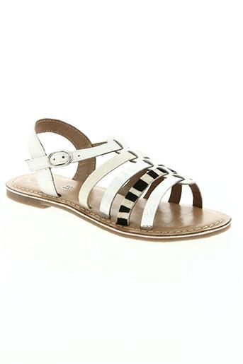 little mary chaussures femme de couleur blanc