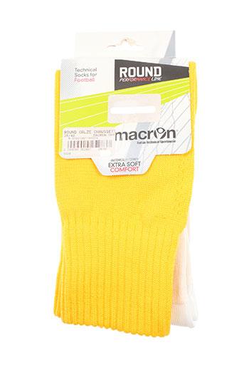 macron lingerie garçon de couleur jaune