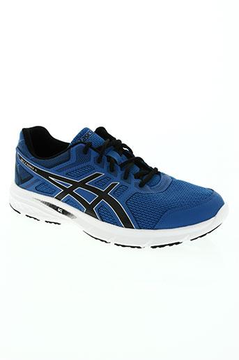 asics chaussures homme de couleur bleu