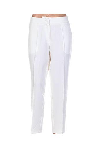 darling pantalons femme de couleur blanc