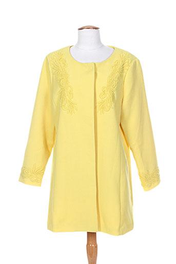 Manteau long jaune DARLING pour femme