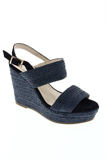 anaki chaussures femme de couleur bleu