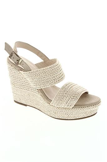 anaki chaussures femme de couleur beige