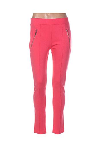 lina pantalons femme de couleur rose