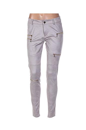 free for humanity pantalons femme de couleur gris