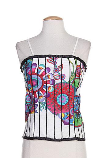 coton du monde chemises femme de couleur blanc