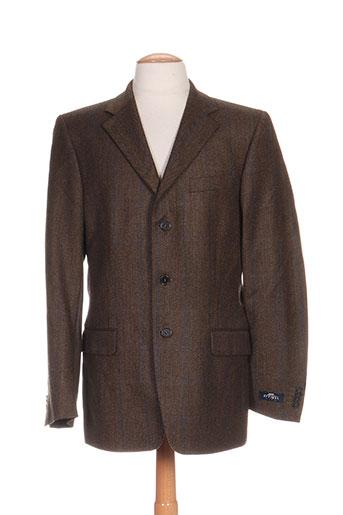optimal vestes homme de couleur marron