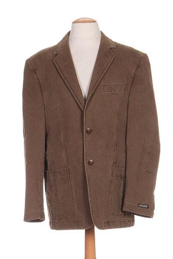 cafone vestes homme de couleur marron
