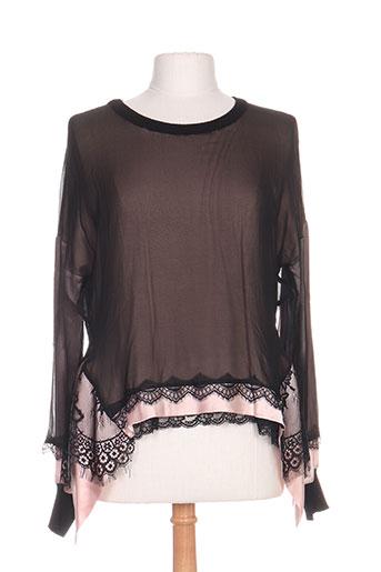 tricot chic tuniques femme de couleur noir