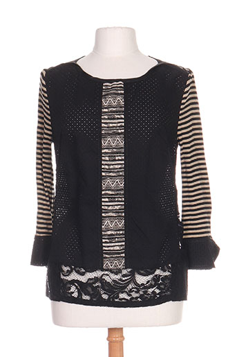 daniela dallavalle chemises femme de couleur noir