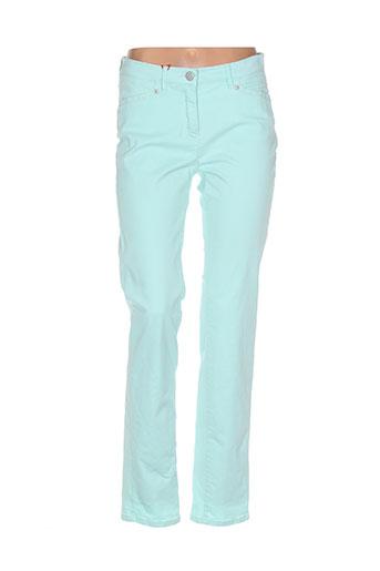 toni pantalons femme de couleur vert