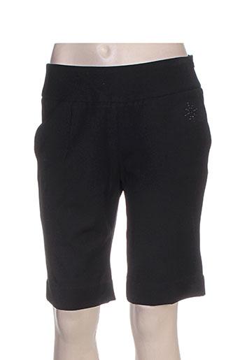 lucchini shorts / bermudas femme de couleur noir