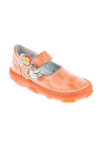 pom d'api chaussures fille de couleur orange