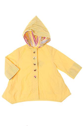 catimini manteaux fille de couleur jaune