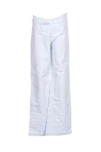 floriane pantalons fille de couleur bleu