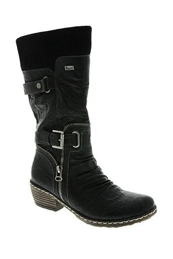 rieker chaussures fille de couleur noir