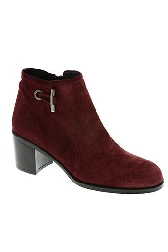 plumers chaussures femme de couleur rouge