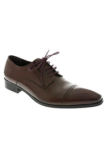 hexagone chaussures homme de couleur marron