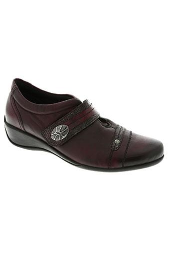 remond chaussures femme de couleur rouge