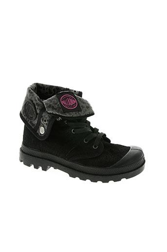 palladium chaussures fille de couleur noir