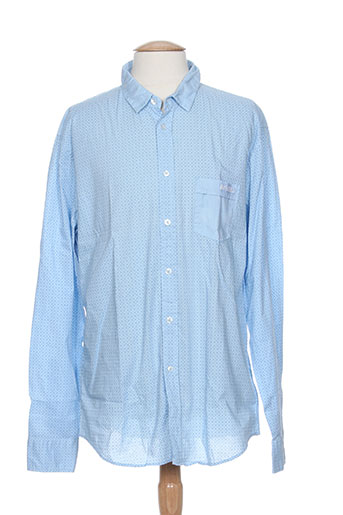 dirk bikkembergs chemises homme de couleur bleu
