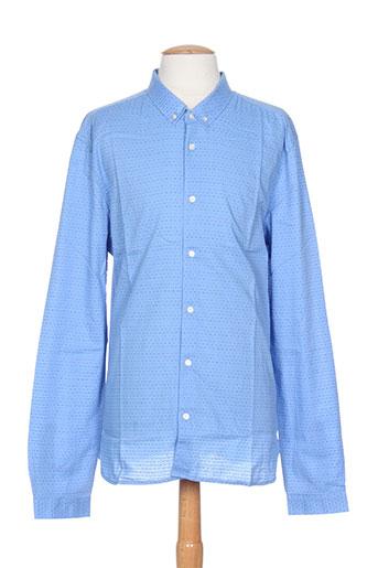 kiliwatch chemises homme de couleur bleu