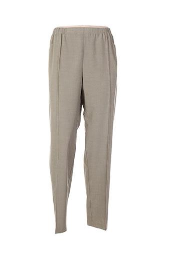 griffon pantalons femme de couleur vert