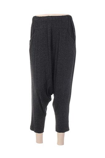 gershon bram pantalons femme de couleur gris