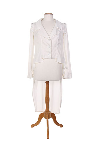 la stampa vestes femme de couleur blanc