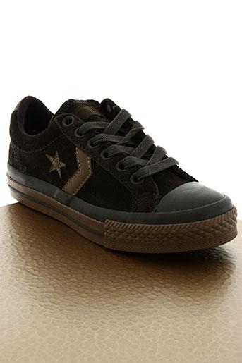 converse chaussures garçon de couleur marron