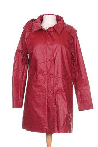 skunkfunk manteaux femme de couleur rouge